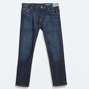 Zara Premium Denim Cigarette Relaxed Fit Jeans